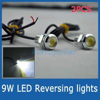 9w ultra-thin lamp screw reversing Tail Lights led reverse light super bright lamp high power line lights 2014 NEW
