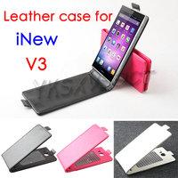 Free shipping Stylish flip case for iNEW V3 Black / White / Pink