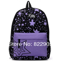 Color block print canvas backpack preppy style student school bag casual backpack Korean trend
