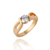 Styles Of Gold Plated Elegant Rhinestone/ Clear Crystal Lover Ring For Jewelery Gift 63092