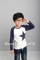 Baby boy T Shirt stars round neck Tees cotton Tops children clothes kid clothing spring autumn