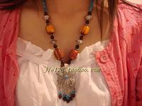 Tibetan jewelry national accessories lucky grass necklace bohemia f-178