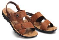 Free shipping,Matte genuine leather, male sandals, men sandals,  men, shoes