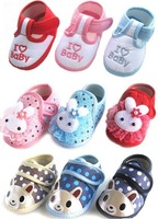 [E-Best]Retail one pair Infants Cartoon shoes 2014 spring cotton baby shoes infants footwears toddlers prewalkers SS008