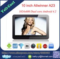 10 inch Allwinner A23 A33 RAM 1GB ROM 8GB/16GB 1.5Ghz Bluetooth 1024*600 Quad Core Android 4.4 Tablet PC