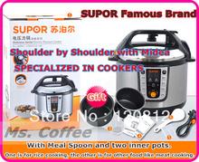 Panela de pressão elétrica panela de pressão 5L Multi fogão de aço inoxidável elétrica para a rússia pote interior para panela de arroz 220 V(China (Mainland))