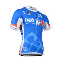 Free Shipping New 2014 FDJ Team Mens Jerseys Short Sleeve Cycling Jerseys Quick Dry Breathable Riding Bike Cycling Clothing