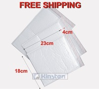 (10 pieces/lot) 18x23+4cm White film mailing bag Water Resistant Plastic Bubble Mailing Bags with no printing FREE SHIPPING