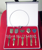 12 pcs/set The Legend of Zelda Weapons Necklaces & Pendants Zelda no densetsu LInk Keychains New!