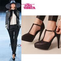 2014 New  Hot Sale T-strapTip platform Toe Women Pumps 11.5cm Red Bottom High HeelsWomenshoes