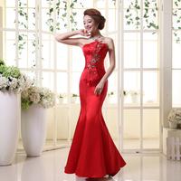 On sale The bride wedding formal bandage lyg lacing dress slim tube top bridesmaid dress new Stock S M L XL dresses