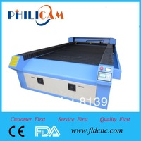 Hot sale, new design 80/100/130W Jinan PHILICAM Manufacture FLDJ1325 laser cutting and engraving