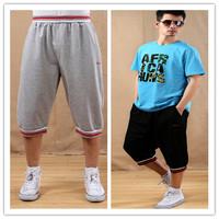 Men's New Brand Hiphop Pants Men's Plus Size Clothing Summer Capris Casual Loose Seven Capris Free Shipping