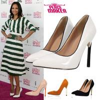 2014 New  Hot Sale Tip golen side Toe Women Pumps 11.5cm Red Bottom High HeelsWomenshoes  Sandals Party Shoes Wedding Shoes