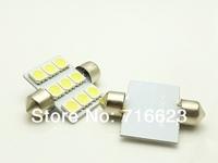 10pcs/lot Car Auto Interior 9 LED 36mm White 5050 SMD  Festoon Dome Light LED Licence Plate Roof Car Light 12V  Interior Light