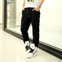 Simple and comfortable multi-pocket embroidery waist men's casual pants sports trousers cotton wild Wei