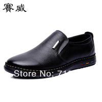 2014 new men, the first layer of leather, brand, flat, British style, casual shoes, men leather shoes, free shipping