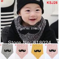 1pc 2014 Leopard Print Organic Cotton Baby Bib Infant Saliva Towels Children Bibs Wear Boys Girls Accessories Free Shipping