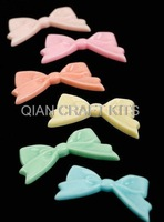 Set of 25pcs big Kawaii resin Bow flatback cabochons assorted colors Gothic 50*26mm