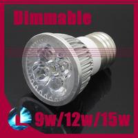 5Pcs/lot 9w 12w 15w E27 CREE LED Spotlight bulb 110V 220V dimmable high power cool/warm white light modern lamp