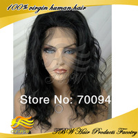 New Style !! Body Wave Lace Front Wigs virgin chinese Human Hair glueless wig with baby hair 130-150% high density Free shipping