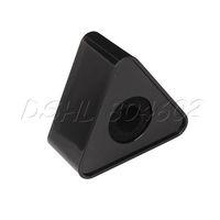 "Portable Mic Microphone Interview Triangular Logo Flag Station Black 1.54"" Hole"