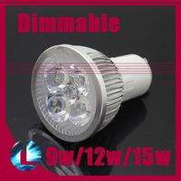 5Pcs/lot 9w 12w 15w CREE Dimmable Modern Lamp High Power GU10 LED Spotlight bulb 110V 220V cool/ warm white light Free Shipping