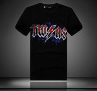 2014 brand t shirt  men  camiseta hip hop new style famous brand dgk leopard clothes ymcmb diamond t shirt mens short sleeve xxl