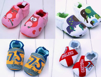 [E-Best] Retail one pair baby girls/boys cotton cartoon shoes owl prewalker shoes infants printed footwears SS012