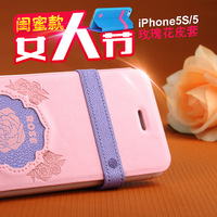 For apple   5s holsteins iphone5 s mobile phone protective case rose 5s iphone5 protective case mobile phone case