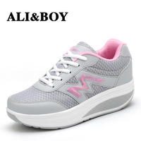 Free shipping Gauze swing/ women's shoes 2014 spring and autumn platform wedges platform single shoes women casual shoes
