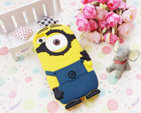 3D Cartoon Despicable Me Minions Soft Silicone Rubber Case Cover Back Skin For Apple iPhone 5 5S