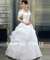 DHL FreeShipping Good Quality Wedding Dress 2014 Hot Sale Cheap Bridal Gown Sweetheart Fashion Cap Sleeve Bridal Dress New Style