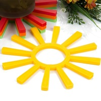 Free Shipping Creative Sun Silicone Mat for Table Cup Mat Insulation Mat Household Supplies Silicone Mold Supply