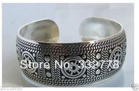New Tibet Silver Carve Men's Cuff Bracelet