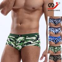 Wj network low-waist sexy male boxer panties u sacheted boyleg comfortable tight fitting boxer shorts