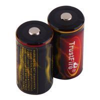 2pcs 3.7V BatteryTrustfire 18350 1200mAh  Li-ion lithium lion Rechargeable Battery Free Shipping Wholesale