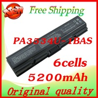 5200mAh battery For Toshiba PA3534U-1BAS PA3534U-1BRS Satellite A200 A205 A210 A215 A300 L300 L450D L500 L505 L555