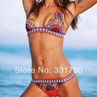 Free Shipping 803069 women vintage swimwear triangl swim high quality wholesale