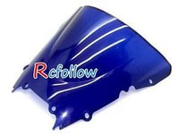 Blue Motorcycle Racing Windshield Windscreen Fit For R6 R600 1998-2002
