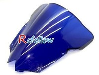 New Blue Motorcycle Windshield Windscreen Fit For R6 R600 2008-2012