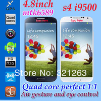 "Free Shipping MTK6589 i9500 4.8""inch 1GB Ram 960*540 8MP Quad Core S4 Android 4.2.2 Smart Phone 3G Wifi"