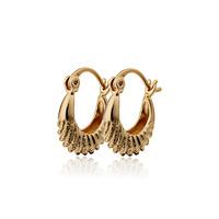 6PCS Wholesale Hoop Earrings For Women 18K Gold Plated CC Earring Brinco Bijoux Earings Fashion 2014 Free Shipping 15E18K-16