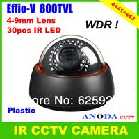 Home Security Camera 800TVL Sony Effio-V CXD4141GG OSD Menu 4-9mm Varifocal Lens Dome IR CCTV Camera
