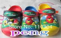 Free shipping 2014 birds 3D Design Kids Unisex Boys and girls Slides sandal shoes size 6C7-12C13