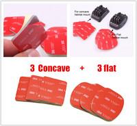 Gopro concave & flat 3M sticker Set for Gopro helmet mount(3M VHB Adhesive Sticky 3 Concave 3 Flat Sticker)