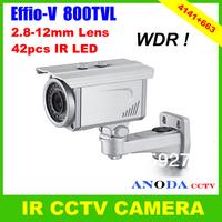 800TVL Super WDR Sony Effio-V CXD4141GG OSD Menu 2.8-12mm Varifocal Zoom Lens Weatherproof Security IR CCTV Camera