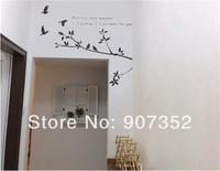 DIY Bird PVC Wall Decal Sticker (Black),free shipping