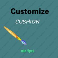 CUSTOMIZE Cushion cover  Custom cushion Personalized cushion for Home Decor sofa cushions 5PCS/LOT