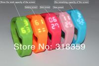 2014New Waterproof silicoon wrist usb drive 2GB  4GB  8GB 16GB free shipping usb flash disk/usb pen with Led smart watch